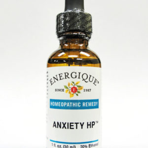 amber dropper bottle of Anxiety HP by Energique.