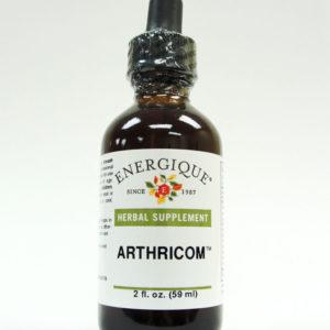 ArthriCom brown glass bottle.