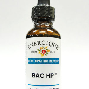 Bac HP glass bottle from Energique.