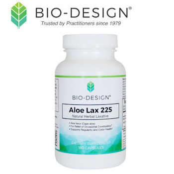 Bio-Design logo with Aloe Lax