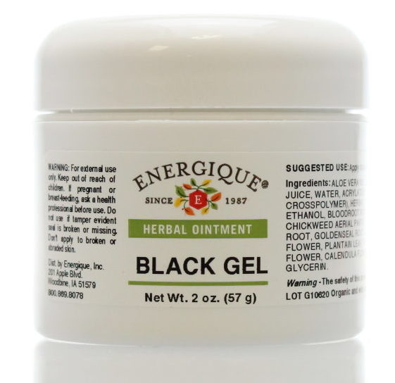 jar of black gel