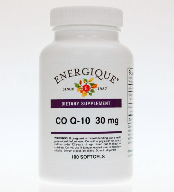 bottle of Co-Q-10-30 softgels.