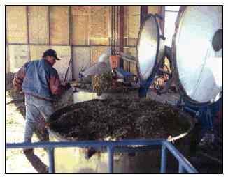 Men working at distiller