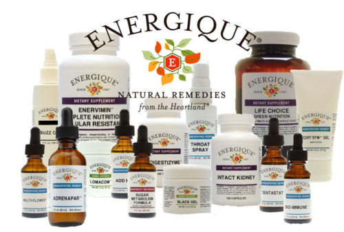 Energique logo and product group