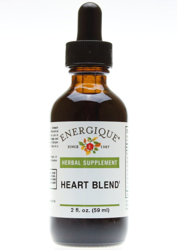 bottle of heart blend liquid herbals.