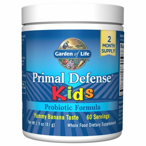childrens probiotic - Primal Defense Kids (banna flavored).